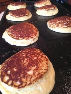 Lighter Than Air Low Carb Pancakes 3 eggs 1/2 cup ricotta cheese 2 tbsp. cream cheese, softened 3 tbsp. coconut flour 1 tbsp. protein powder 1 tsp baking powder pinch baking soda cream Whisk eggs until frothy. Mix in remaining ingredients until smooth. Melt butter on hot griddle. Pour 1/4 of batter on griddle for pancakes. Cook until brown and firm enough to turn. Turn and cook other side. Serve with butter and your favorite low carb topping. Makes about 8 four inch pancakes. by…