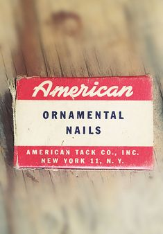American, Beautiful lettering of yesteryear