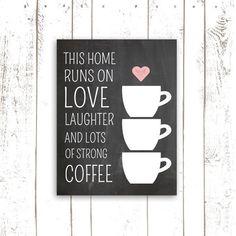 Coffee Art Print Chalkboard Print This Home by MooseberryPrintShop, $18.00