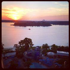 """#Sunrise from #baylaketower #wdw #waltdisneyworld"""
