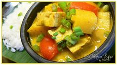 Tofu & Pineapple Thai Yellow Curry: Sunshine, at least, in My Bowl! - Monsoon Spice | Unveil the Magic of Spices...