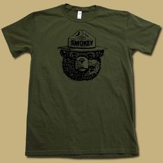 Smokey The Bear Shirts | SMOKEY the BEAR t-shirt. COOL retro forest fire prevention logo tee ...