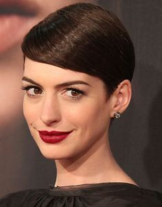 Short Pixie Haircuts for Straight Hair: Anne Hathaway Hairstyles/PacificCoastNews Short Pixie Haircuts, Pixie Hairstyles, Celebrity Hairstyles, Pretty Hairstyles, Short Hair Cuts, Straight Hairstyles, Pixie Cuts, Hairstyle Ideas, Bandana Hairstyles