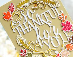 My Joyful Moments 3- STAMPS: Paper Clippings: Thankful For You DIES: Paper Clippings: Thankful For You INK: Orange Zest, Saffron Spice, Pure Poppy, Dark Chocolate, Summer Sunrise, Ripe Avocado, Classic Kraft PAPER: Stampers Select White, Fine Linen