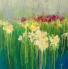 Spring Daffodils. Mixed media. Anna Perlin