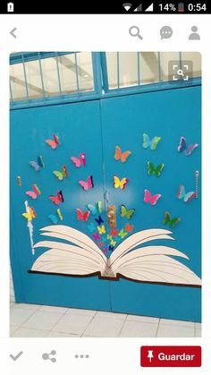Maybe get the kids to add names to butterflies Decoration Creche, Board Decoration, Class Decoration, School Decorations, Diy And Crafts, Crafts For Kids, Paper Crafts, School Murals, School Displays