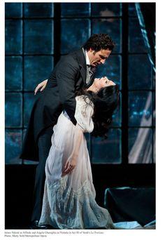"Angela Gheorghiu and James Valenti in ""La Traviata"" by Giuseppe Verdi Music Film, Art Music, Amadeus Mozart, Contemporary Classic, Beautiful Costumes, Opera Singers, Film Books, Classical Music, Love Story"