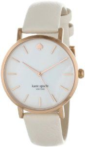 Kate Spade Watches Women's 1YRU0012 Classic Rose Metro White Strap Watch Kate Spade Watches. $195.00. Durable mineral crystal protects watch from scratches. Water-resistant to 10 M (33 feet). Case diameter: 34mm. Metal case. Quartz movement
