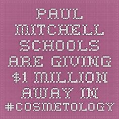 Paul Mitchell Schools are giving $1 million away in #cosmetology scholarships! #pmts #sanantonio