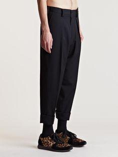 Yohji Yamamoto Men's Cropped Pleat Pants