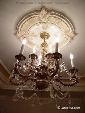 "30"" Ceiling Medallion - Stunning Four Leaf Style $69"