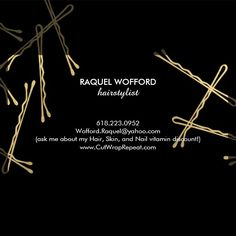 Coordinates with the Chic Gold Bobby Pins Hair Stylist Salon Black Business Card Template by 1201AM. A fun and eye-catching design of falling faux gold bobby pins create an intriguing background on this stylish loyalty punch card for hairstylists, hair salons, beauty consultants and more. Update the promotion text for your desired offering. Generate more sales and visits by encouraging your customers to return for a discounted service or free product. Use a hole-punch or small stickers to…