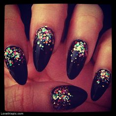 will do these except with gold glitter gradient