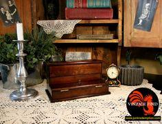 Vintage Wood Desk Caddy