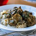 Epicurious - lamb stew with leeks and baby artichokes
