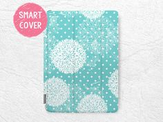 Tiffany Blue floral pattern Smart Cover for iPad Mini, iPad mini 2 retina, iPad mini 3, elegant Smart cover with back case -P13