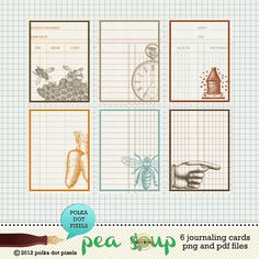 pea soup october stamped journaling cards by polka dot pixels two peas ...