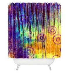 Sophia Buddenhagen 69 x 72 inch Shower Curtain Blue Crush DENY #DENY