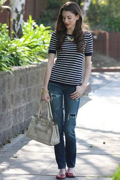 Stripes_Ripped Jeans2 by Jeans and a Teacup, via Flickr