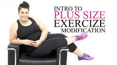 As a plus size health & fitness motivator, I share my raw journey to fit. Here I share how I modify exercises in my 1st series of plus size exercise and workout modifications such as squats, core, and more!