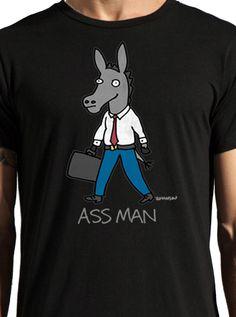 """Men's """"Ass Man"""" Tee by Johnson Apparel (Black)"""