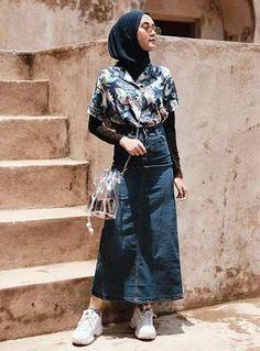 Modern Hijab Fashion, Street Hijab Fashion, Hijab Fashion Inspiration, Muslim Fashion, Skirt Fashion, Fashion Outfits, Hijab Fashion Summer, Casual Hijab Outfit, Hijab Chic