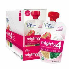 I'm learning all about Plum Organics Tots Mighty 4 Essential Nutrition Blend Kale Strawberry Amaranth Greek Yogurt at @Influenster! @PlumOrganics
