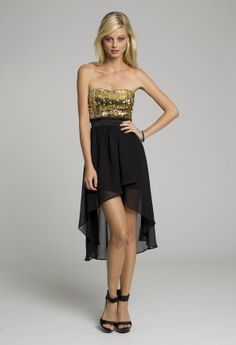 Sequined Hi-Lo Dress