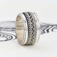 Silver Men's Jaipur Explorer Spinning Ring