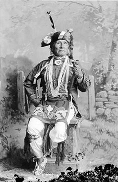 A photograph of the American Indian called James Arkeketah of the Otoe Nation.