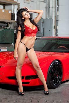 1989 bikini corvette girl