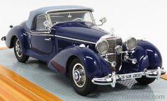 ILARIO-MODEL IL43102 Scale 1/43  MERCEDES BENZ 540K ch.408383 SPEZIAL ROADSTER CABRIOLET CLOSED 1939 2 TONE BLUE