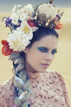 Flower fashion photography