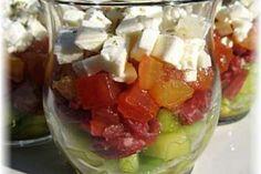 Recette Verrine tomate-concombre, Facile, Entrée - PtitChef