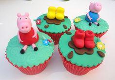 Cupcake Peppa Pig - Lindos e deliciosos cupcakes para enfeitar a sua festa. Ideal para aniversários e lembrancinhas.