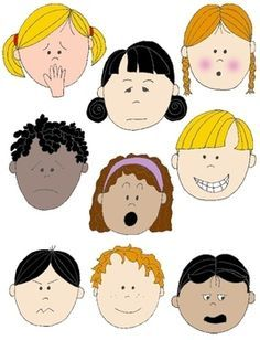 Faces Kids Clip Art Png Feelings and Emotions colored and coloring from Printable Kit on TeachersNotebook.com - (1 page) - Special Education, EFL - ESL - ELD, Speech Therapy