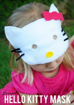 Simple Hello Kitty Mask that won't take long to make at all and is the perfect handmade costume!