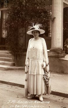 Kaiser Wilhelm II of Prussia's 2nd wife, Hermine,born Princess Reuss (1887 - 1947)