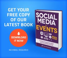 Social Media for Events. A Free Ebook for Japanese Embroidery, Event Planning Tips, Event Marketing, Latest Books, Ebook Pdf, Free Ebooks, Infographic, Social Media, How To Plan