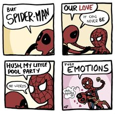 #spiderman #deadpool #marvel #fangirl