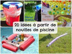Partagez avec vos amis! Je vous ai tellement déniché de belles idées estivales! Elles ont toutes deux choses en commun : 1- Elles sont vraiment géniales et ; 2- Elles sont toutes préparées à partir de nouilles en mousse pour la piscine. C'est certain que je vais essayer la première! J'ai un jumeau qui a … Water Noodles, Fun Noodles, Games For Kids, Diy For Kids, Crafts For Kids, Infant Activities, Activities For Kids, Pool Noodle Crafts, Literacy And Numeracy