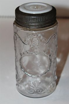 Vintage 1880 Fancy Fruit Jar with Daisy Milk glass insert