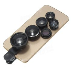 Universal 8in1 Clip On Camera Lens Kit Fisheye +Wide Angle +Macro for Cell Phone