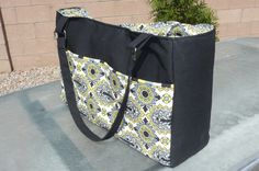 Diaper bag (Warehouse Fabrics inc.)... absolutely wonderful! I'll keep it in mind as present for new mom friends...