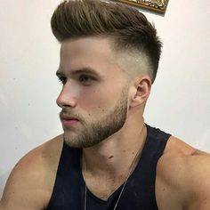 His hair, eyebrows, moustache and beard. Trending Hairstyles For Men, Popular Mens Hairstyles, Mens Hairstyles With Beard, Quiff Hairstyles, Cool Hairstyles For Men, Hair And Beard Styles, Haircuts For Men, Curly Hair Styles, Bleached Hair Men