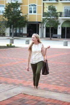 Stephanie Kamp Blog: Olive Green Ankle Pants