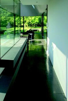 house extension designed by topmouton. the line of sight goes straight to the tree.