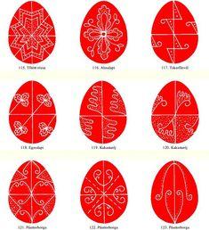 Hungarian Eastern Egg Template - Magyar Minták