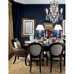 Elegant Transitional Dining Room by Jane Lockhart