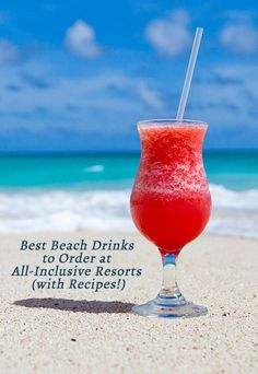Best Beach Drinks to Order at All-Inclusive Resorts (+ Recipes!) Best Beach Drinks to Order at All-Inclusive Resorts (with Recipes!)Best Beach Drinks to Order at All-Inclusive Resorts (with Recipes! Punta Cana Vacations, All Inclusive Beach Resorts, Cancun Vacation, Mexico Vacation, Mexico Travel, Vacation Spots, Vacation Ideas, Luxury Resorts, Vacation Places